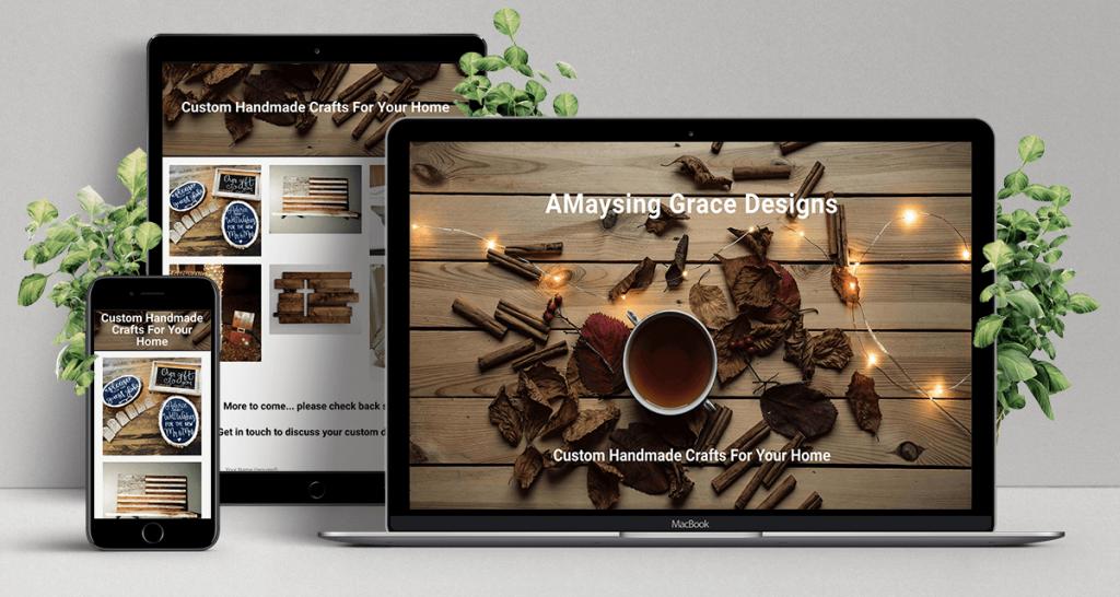 AMaysing Grace Designs site device mockup