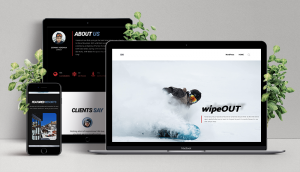 ski resort site device mockup